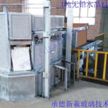 1吨无铅水晶料玻璃电炉