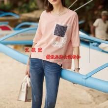 迪卡轩品牌折扣女装休闲夏季纯棉女装尾货批发 一手货源