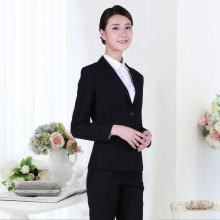 长沙职业装定制黑色商务西装女套装