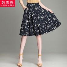 雪纺花 透气 时装精品 女式短裙