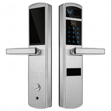 HY1088华鹰半自动光学不锈钢家用智能指纹锁代理价格