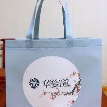 广州月饼淋膜腹膜袋广告宣传环保袋超声波机压立体袋双手提购物袋