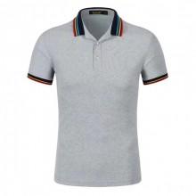 广州条纹领商务POLO衫,短袖男版T恤,纯棉广告衫