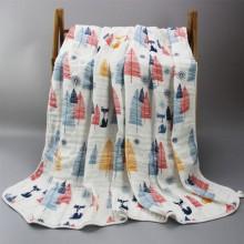 竹纤维纱布浴巾