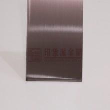 供应 304 真空电镀褐色不锈钢板 发纹深褐色不锈钢板 厂家