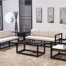 木言木语高端整木全屋定制中式实木沙发黄柏材质手工打磨不含甲醛