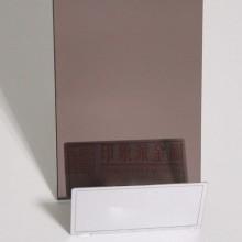 供应 304 褐色装饰镜面不锈钢板 电梯8k超精磨镜面