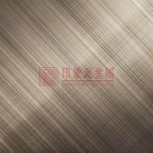 供应 304双向拉丝古铜 交差拉丝板 可定制各种真空电镀颜色