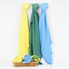 全竹纯色纱布包巾
