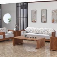 北京实木家具厂家 木言木语中式实木沙发