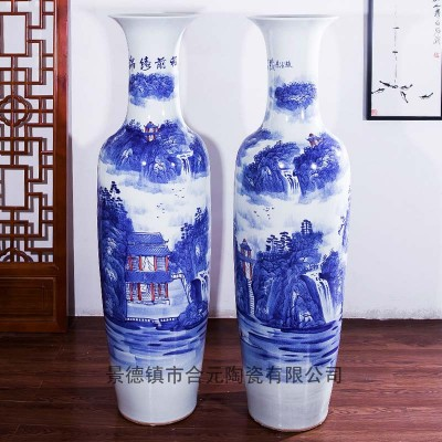 1.6米手绘大花瓶 开业礼品赠送陶瓷大花瓶
