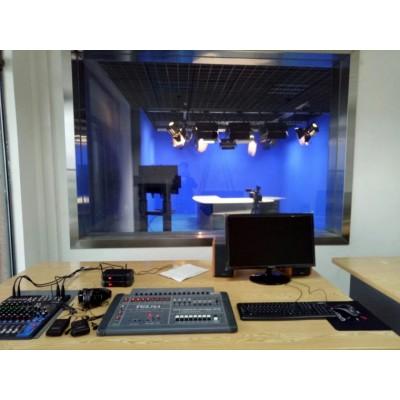 广电行业虚拟工作站三维4K超清虚拟演播电视台