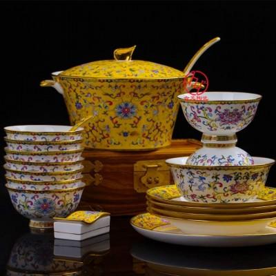 单位礼品陶瓷餐具定做厂家