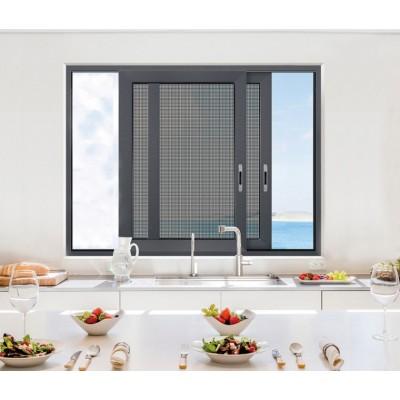 纱窗门不锈钢金刚网铝合金边框自装防蚊防盗家用平移推拉式