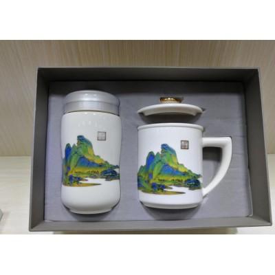 40周年校庆纪念茶杯定制印校徽图案
