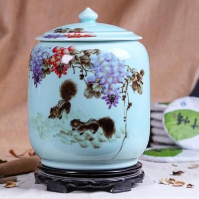 食品陶瓷储存罐子定制logo 茶叶罐陈皮罐批发