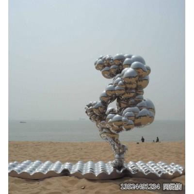 盐城公园不锈钢抽象飞雁雕塑 雕塑加工制作厂