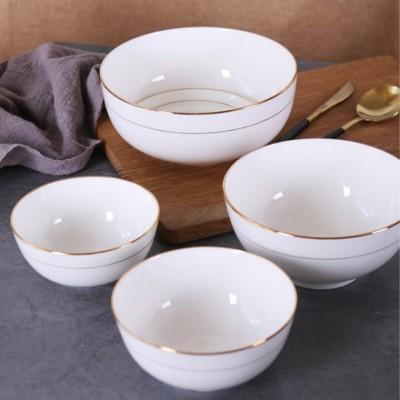 陶瓷餐具骨瓷单碗定制 十碗套装定制批发