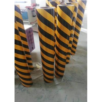 供应电线杆红白反光膜 黑黄警示反光贴