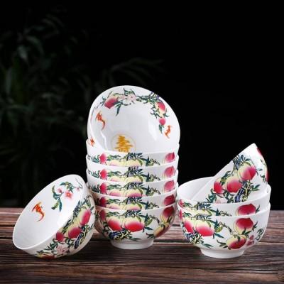 祝寿回礼红色珐琅彩寿碗定制厂家
