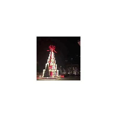 想引流就找山东三喜文教定制大型发光圣诞树