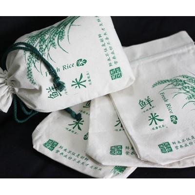 定制帆布大米袋杂粮袋 棉布帆布束口大米袋定做厂家