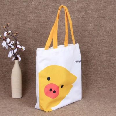 白色帆布袋定做logo手提购物袋环保袋卡通旅游收纳袋