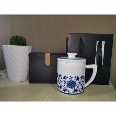 会议纪念茶杯定制logo,抗疫志愿者礼品杯子