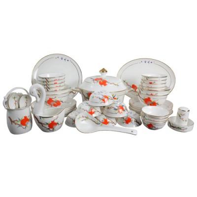 会议礼品陶瓷餐具 陶瓷餐具套装定做