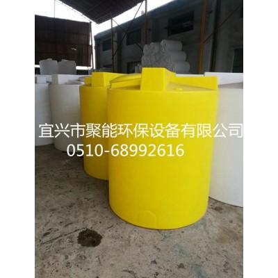 500L塑料搅拌桶 耐酸碱防腐蚀 带电机搅拌罐水处理加药箱