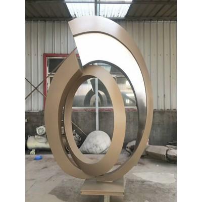 青岛公园抽象雕塑 不锈钢锻造工艺制作