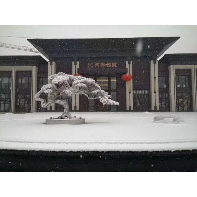 九江大型白钢松树雕塑 镜面雪松庭院门前落地摆件