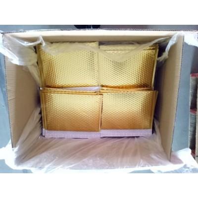 金色镀铝膜复合气泡信封袋批发,快递专用汽泡袋,可定做各类颜色