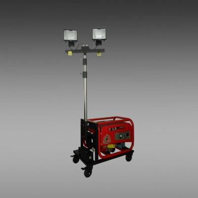 轻型升降泛光灯 手推移动照明车 手动升降式轻便移动照明灯