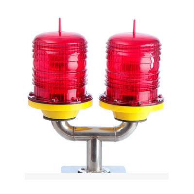 厂家定制双头联闪航空障碍灯高空微波通讯塔航标灯 烟囱标志灯