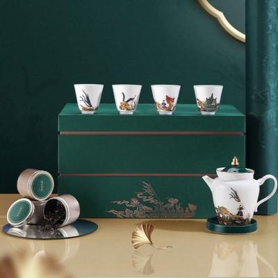 龙池竞度图系列茶器礼套装,端午节商务赠礼茶具套装