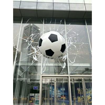 商丘步行街不锈钢烤漆足球雕塑 墙体外面立体造型