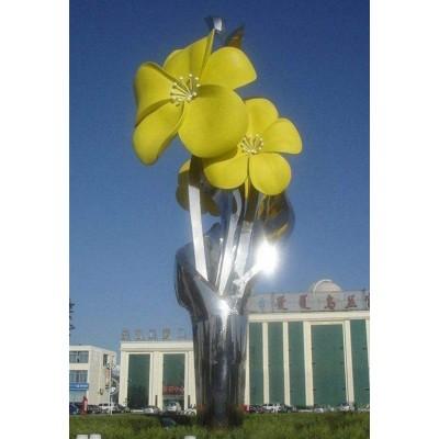 四川植物园林黄蜂花雕塑 五瓣花朵产品制作图