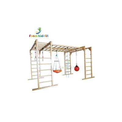 定做室内悬空秋千肋木架多功能组合 体适能馆多功能肋木架组合