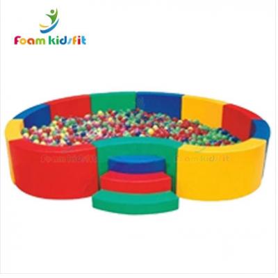 厂家直销定制软体海洋球 儿童感统训练折叠球池沙池花瓣球池