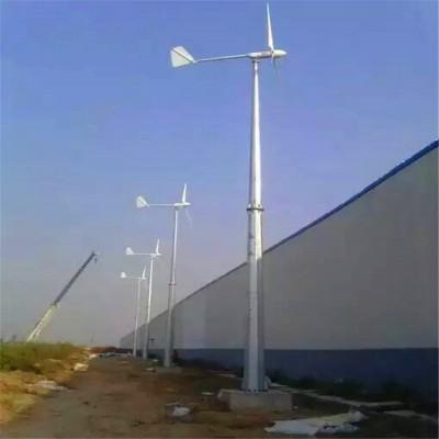 新型鱼尾式水平轴风力发电机自动偏航抗强风保护