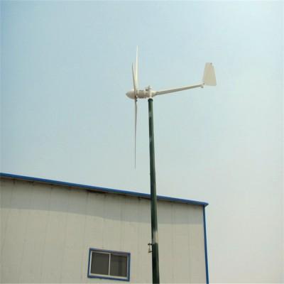 山上矿场农场安装水平轴小型风力发电机离网供电