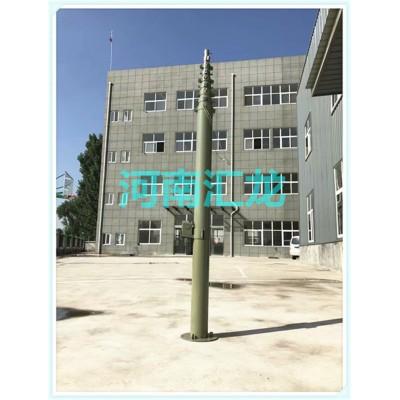 10米手动升降式避雷针 军用升降避雷针 电动天线升降杆避雷针