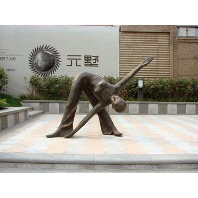 厦门舞蹈人物铸造锻铜雕塑 小区门口双人舞摆件