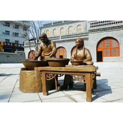 晋城创意仿铜街头雕塑小品 摆地摊景观定制加工