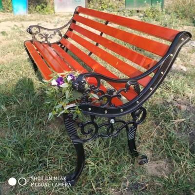公园椅 广场休闲座椅 铸铝脚靠背虎头椅 现货供应