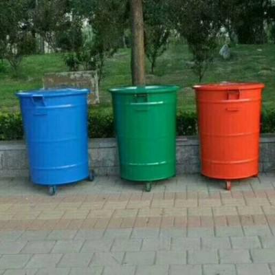300升铁质圆桶 户外环卫垃圾桶 果皮箱 厂家批发定制