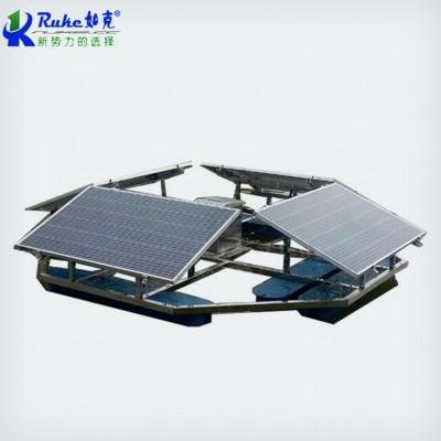 太阳能河道增氧曝气机 解层式漂浮复氧型生态浮岛 如克厂家定制