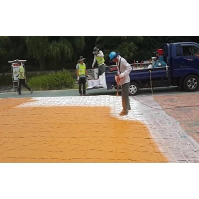辽宁盘锦道路改色喷涂剂改色成本低美化城市好帮手
