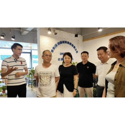 省政府黄楼企业联合会秘书长孟辉一行参观聿东涂料运营中心